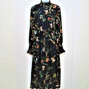NANNETTE N LEPORE DRESS black/floral sz 6 NWT